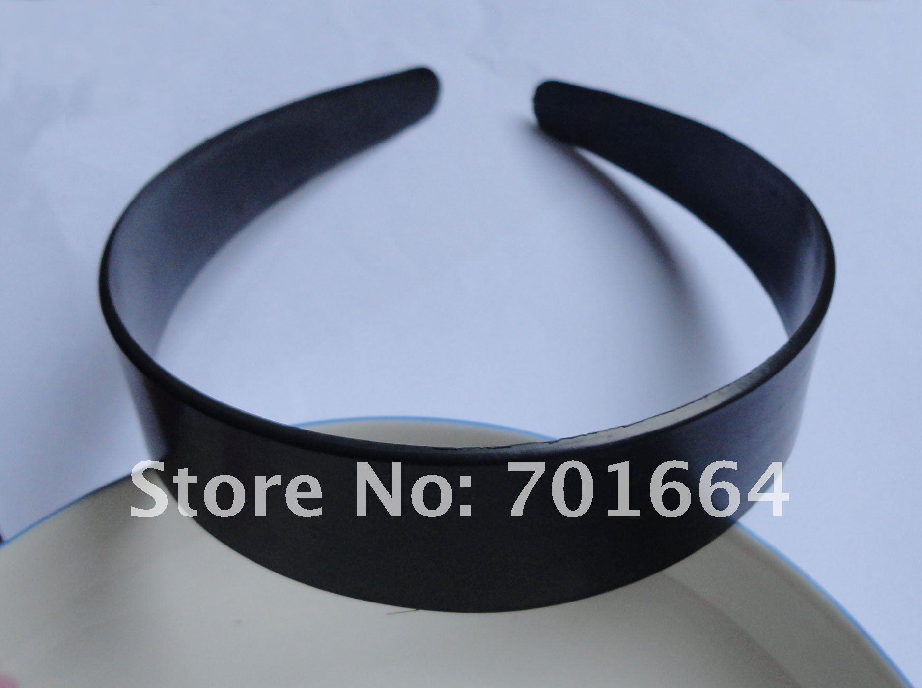"""10 шт. 3,0 см 1,1"""" черные без зубов простые пластиковые повязки для волос как аксессуары для самостоятельной сборки, оптом"""