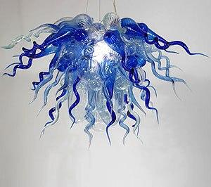 יוקרה אירופאי k9 קריסטל מעצב איטליה תעשייתית מודרנית נברשת עם זכוכית מוראנו פוצץ יד לסלון