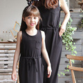 2016 new family matching outfits mother daughter dresses family look girl and mother dress mommy and me clothes 2 colors