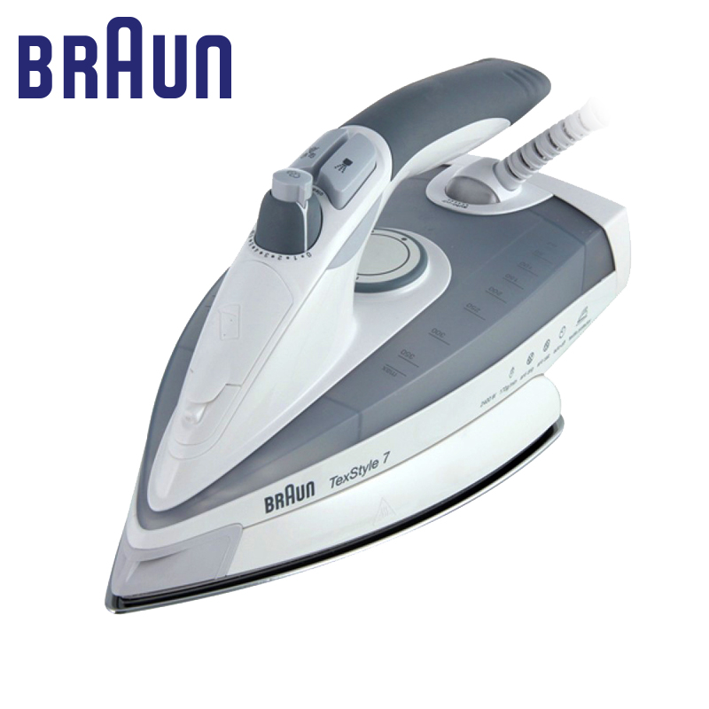 Iron BRAUN TS 775 Textyle Protector electric for ironing steam Household for Clothes Burst of Steam electricsteam electriciron professional 450f ceramic vapor steam hair straightener with argan oil infusion steam flat iron ceramic vapor fast heating iron