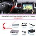 Оригинальный автомобиль экран обновление Android 4.4 4 ядра автомобильный GPS навигация в 2010 ~ 2016 VW Touareg встроенный wi-fi камера заднего вида