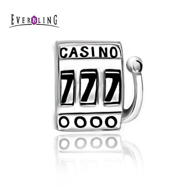 Casino Slot Machine 100% 925 Sterling Silver Charm Beads Fits Pandora European Charms Bracelet  M