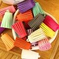 50 unids/lote Color de la mezcla del ante de la borla para Keychain del teléfono móvil correas de cuero de la joyería de las borlas Diy accesorios fibra borla de la franja