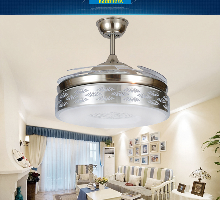stealth ceiling fan lights restaurant fan led ceiling lights fan with remote control living room decorating - Decorative Ceiling Fans