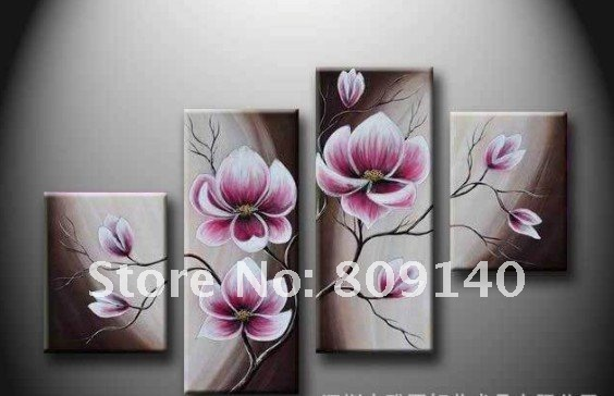 Merveilleux Free Shipping Flower Oil Painting Canvas Abstract Decorative Artwork  Handmade Modern Home Office Hotel Wall Art