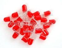 10 мм круглый тип красный ковриком из светодиодов, 620 ~ 635nm машина, 1.9 ~ 2.5 в, 200 ~ 450мкд, 50deg