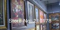 ru rapist маслом стены искусства бла-зеленый красивые цветы, украшения абстрактный картина маслом на проход хозяев 4 шт./комп. ды-037
