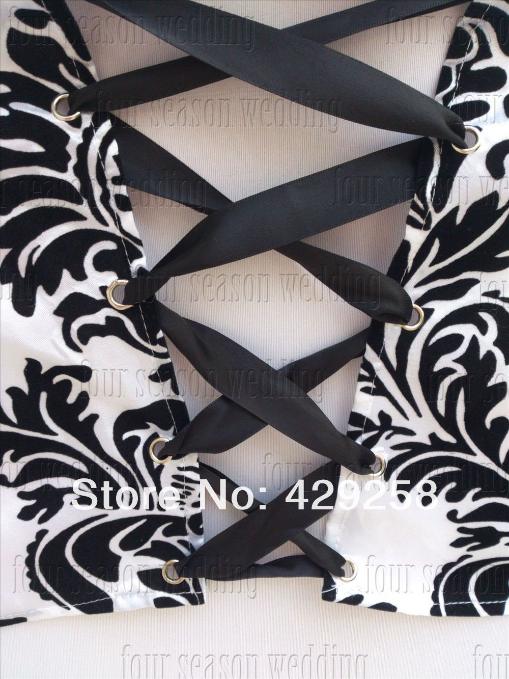 Stupendous Us 180 0 Free Shipping 100Pcs White And Black Flocking Taffeta Chair Cover Sash Also Call Elegance Damask Corset Chair Sash In Sashes From Home Download Free Architecture Designs Rallybritishbridgeorg