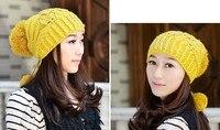 бесплатная доставка - новые поступления корея стиль вязаный зима теплая шапка мода уха защитник женской шляпа