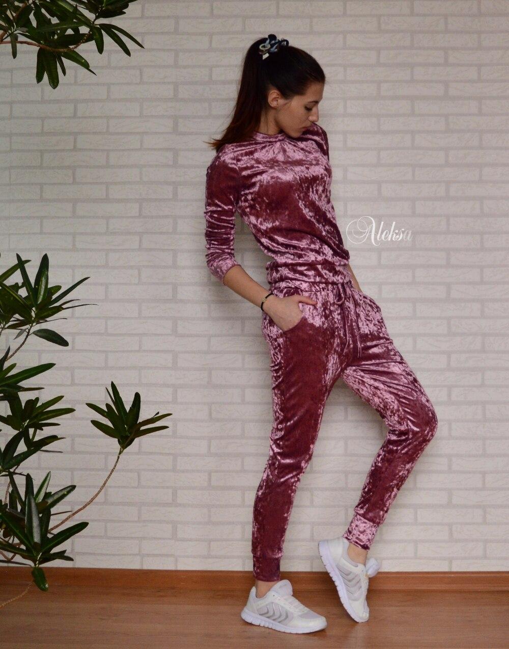 Бархатный спортивный костюм с Алиэкспресс