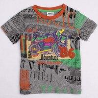 бесплатная доставка 5 шт./лот нова дети мультяшном стиле детские вещи 100% хлопок с коротким рукавом мальчиков майка топы мода
