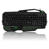 Marca USB 104 Teclas kailh teclado Mecânico eixo Verde cuidado Da Mão (8 teclas direcionais DIODO EMISSOR de luz) para os jogadores de jogos de digitação Snigir