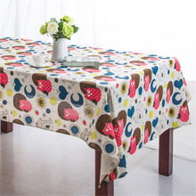 Fashion Owl Dining Tablecloth Linen Cotton Table Cloth For Picnic Outdoor Coffee  Party Wedding Table Cover Toalha De Mesa