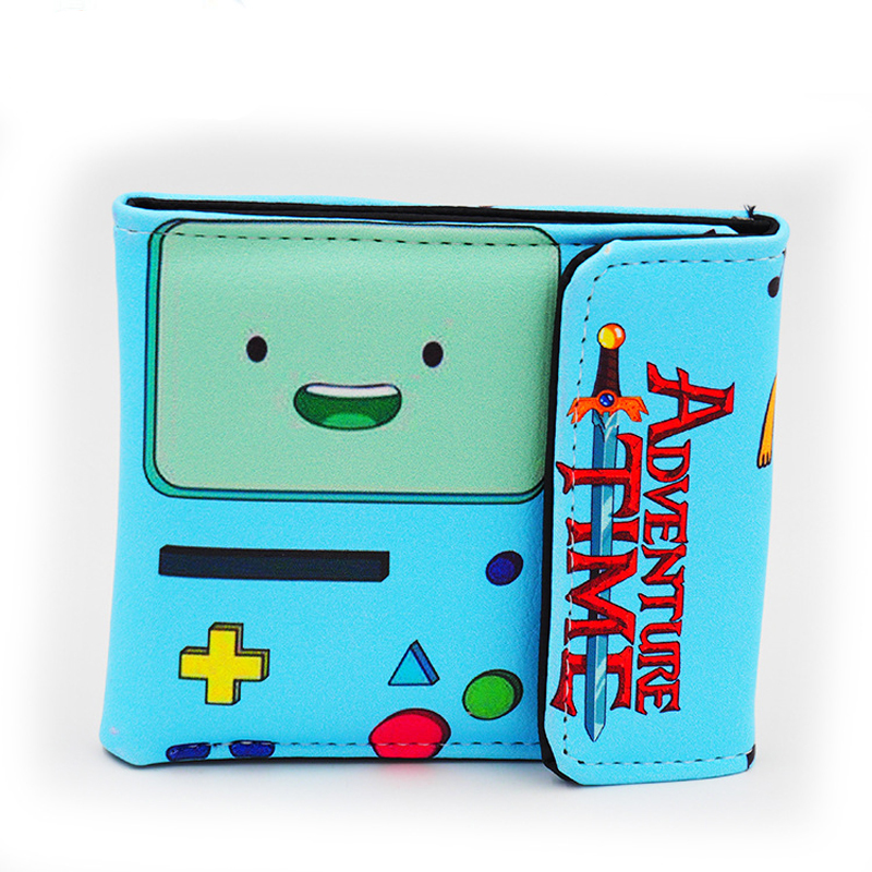 все цены на BMO Adventure Time with Finn and Jake The Ice King Princess Bonnibel Bubblegum Multilayer colorful PU short wallet онлайн