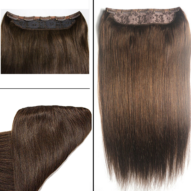 Full Shine One Piece Clip In Remy Hair Extension Human Hair Dark