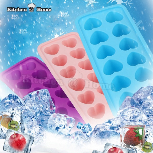 12 Cell Love Silicone Ice Cube Maker,Cake Mold,Budding Chocolate Jelly Soap  Mould