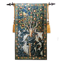 Belgium jacquard tapestry Gobelins European cloth art William morris series woodpecker 67X140CM GT ZMN099