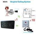 1 Conjunto de 50 Zonas de cuidados de enfermagem do Hospital sistema de chamada w 10 pcs Enfermeira chamando sino pager transmissor DHL frete grátis livre