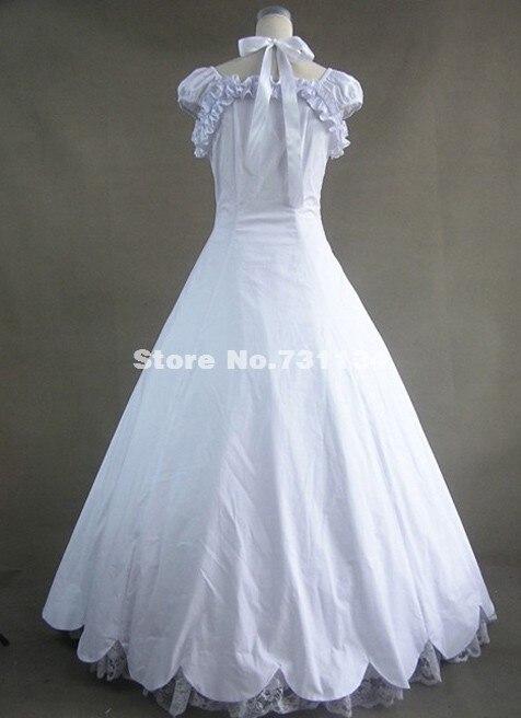 Элегантный белый кружева викторианской платье узор, благородный викторианской платье
