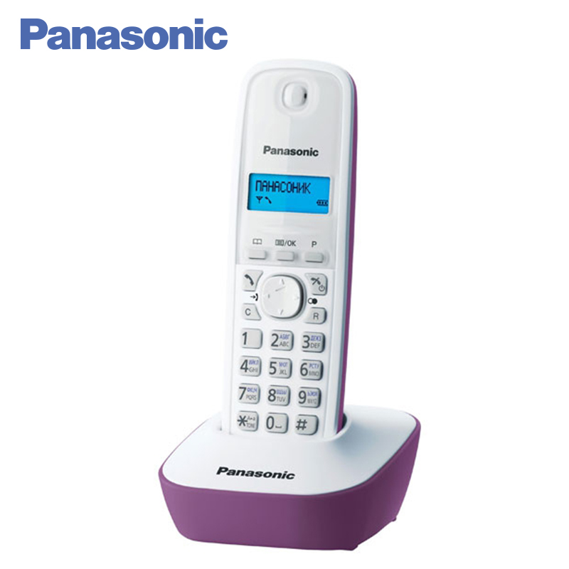 Panasonic KX-TG1611RUF DECT phone, digital cordless telephone, wireless phone System Home Telephone. panasonic kx tg2512ru2 dect phone additional handset included eco mode time date display communication between handsets