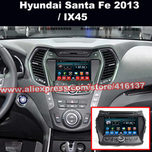Android Car DVD GPS Support Wifi 3G Quad Core Dash Stereo Bluetooth Touch Screen SWC Sat Nav For HYUNDAI Ix45 Santa Fe 2013