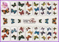 японский стиль самостоятельная липкой 3д ногтя искусства ногтя татуировки стикер цветок бабочка Пт серийный pt001-008
