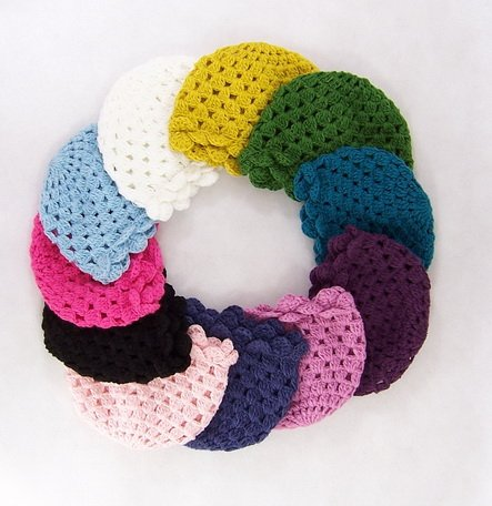10pcs Crochet Beanie Baby Handmade Hat Crochet Lace Kufi Hat Toddler
