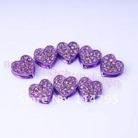 красочные шамбалы в форме сердца бусины милые сердцу стиль кожа диско вымощает хрустальный бусины блестящими бусины для DIY шамбалы браслет
