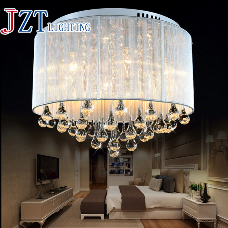 T 2016 New Romantic Modern Lustre Crystal Dining-room Light Droplight Pandent Lamp LED Light For Study Room Bedroom dhl Free t best price modern lustre rectangular crystal chandeliers for dining room pandent lamp with led bulbs for entrance aisle