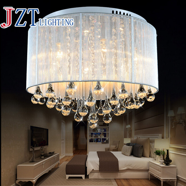 T 2016 New Romantic Modern Lustre Crystal Dining-room Light Droplight Pandent Lamp LED Light For Study Room Bedroom dhl Free