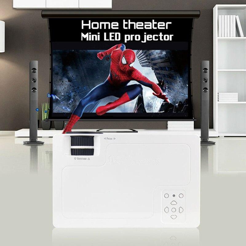 2018 Newest Portable Mini HD LED WIFI Projector Home Cinema Theater For PC&Laptop /USB/SD/AV input 2016 newest unic uc46 wifi portable led video home cinema projector laptop pc vga usb sd av hdmi wireless mini pocket projector
