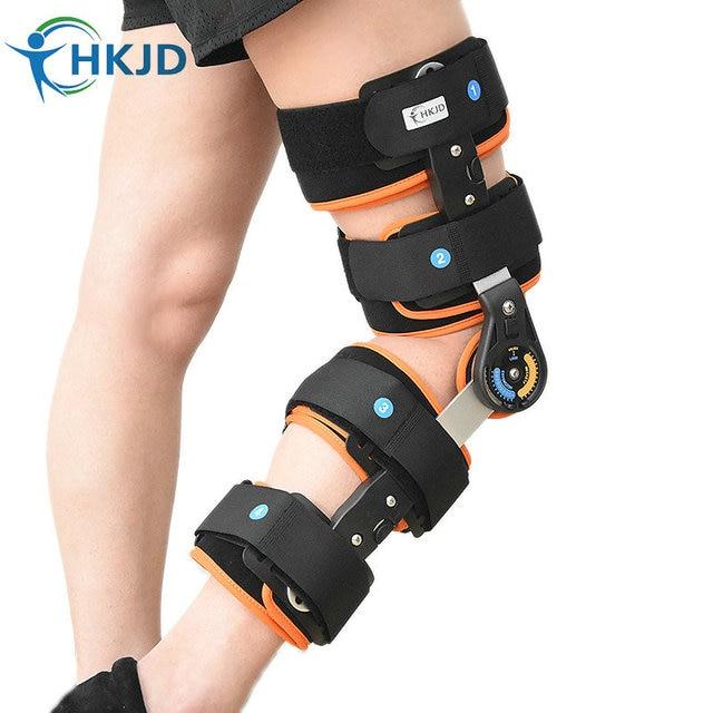 Adulto Ortesis de Rodilla Ajustable Ultra Soporte de Rodilla Con Bisagras Bisagras Rodillera Brace Patella Knee Medical Compresión Bilateral