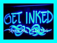 I316 OBTENER ENTINTADAS Tattoo Piercing Shop LED Neon Light Sign On/Off 7 Colores