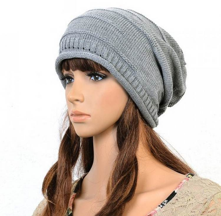 New Grey Color Knit Women Winter Hat Caps Skullies Bonnet Winter Hats For Men Women Beanie Warm Baggy Wool Knitted Hat 2017 winter women beanie skullies men hiphop hats knitted hat baggy crochet cap bonnets femme en laine homme gorros de lana