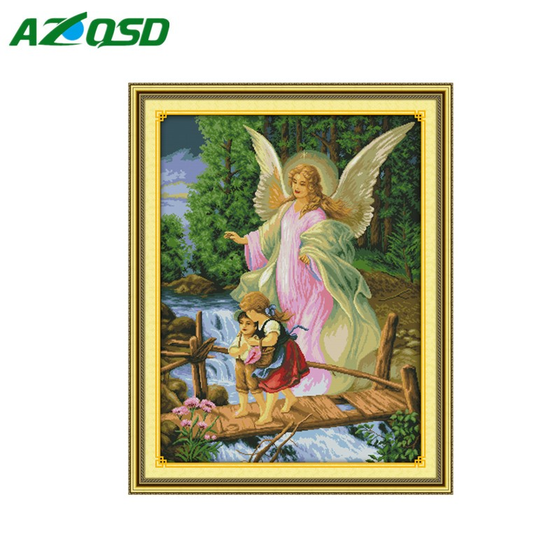 Cross Stitch kits Needlework Sets Embroidery guardian angel baby Painting Drawing counted print on fabric 14CT 11CT r267