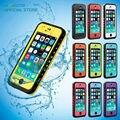 Caso à prova de choque à prova d' água 360 completa capa protetora para o iphone 5c 5 5s SE 6 6 s 7 Mais Luxuoso Magro 100% Selado Saco de Telefone Celular