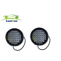 super bright DC 10 30V red black spot flood 9 111w round for c r e e led driving light for 4x4 4WD offroad auto truck Lantsun