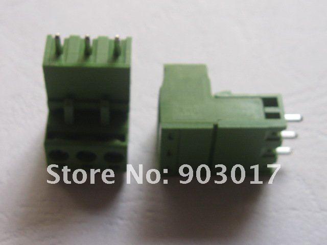 Тип Зеленый 3way/pin 5,08 мм винтовой клеммный блок разъем 15 шт. в партии Горячая Распродажа