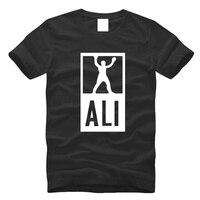 2016 New Fashion ALI Print T Shirt Euro Size S 3XL Fitness Workout Tee Shirt 100