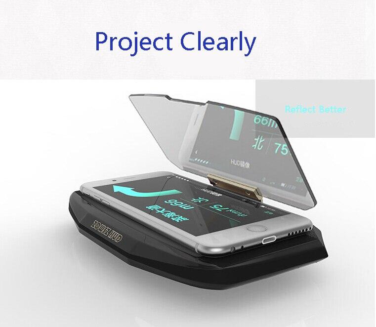 Universal Mobile GPS Navigation Bracket HUD Head Up Display For cars Smart Phone t Stand Navigation