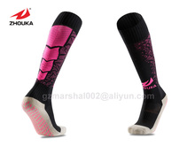 Best Price 2016 Wholesale top quality Soccer Socks Non-slip pink rubber point