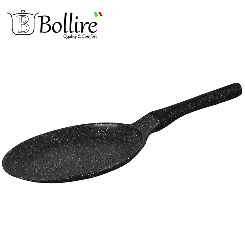 BR-1108 Pan Bollire MILANO pancakes FULL INDUCTION BOTTOM Non-stick layer Frying Pan High quality Flat bottom cookware mini aluminum milk pan frying pan soup pan non stick pan red silver ivory