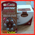 60 PCS Rayovac Peak Performance 312 PR41 A312 Zinc Air Batteries 1.45v Hearing Aids Button Batteries Made in UK + Free Gift