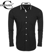 Coofandy Men CASUAL SHIRT Fashion Slim Fit Long Sleeve Button Down Casual Shirts US SIZE S