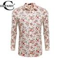 COOFANDY Men Flower Shirt Casual Long Sleeve Print Floral Button Floral Prints Shirts US Size S/M/L/XL/XXL Beige, Black
