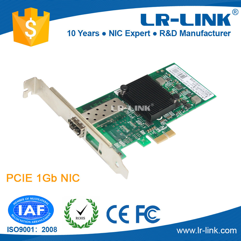 LR-LINK LREC9250PF-SFP Intel I350 Chipset PCIe x1 1000Base-SX/LX  SFP Port Gigabit Network Adapter сетевая карта lenovo thinkserver i350 t4 pcie 1gb 4 port base t ethernet adapter by intel 4xc0f28731 4xc0f28731