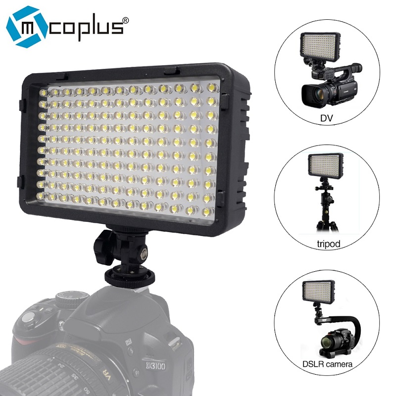 Mcoplus 130 LED Video Light  Photography Lighting for DV Camcorder & Canon Nikon Pentax Sony Olympus DSLR Camera VS CN-126