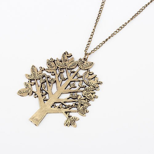 Free Shipping&Personality Simple Sweater Chain Necklace -Heaven trees Shaped Necklace#90203