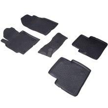 Резиновые коврики для Mazda CX5 (2012-2016) с высокими бортиками (Seintex 82717)