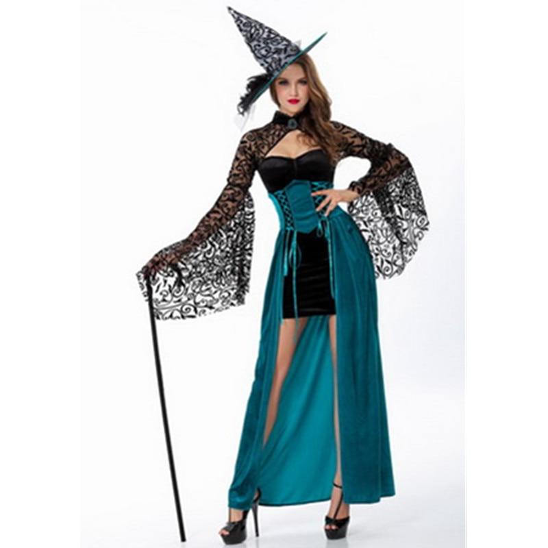 Yeni Qadın Halloween Cadı Kostyum Yetkin Maskarad Cosplay Kostyum - Karnaval kostyumlar - Fotoqrafiya 1